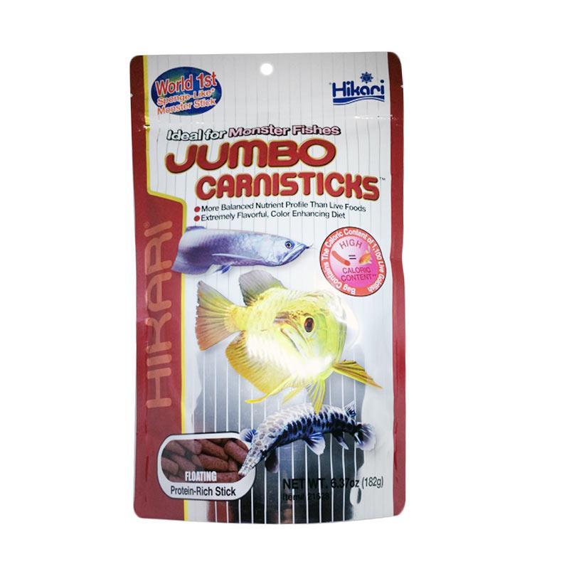 Hikari Jumbo Carnisticks Pakan Ikan [182 g]