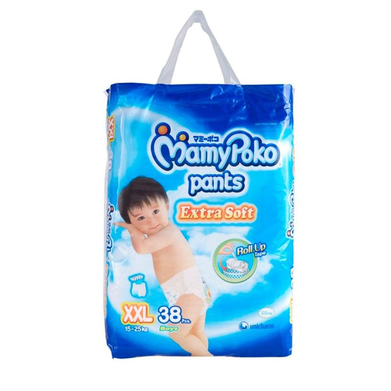 harga MamyPoko Pants Extra Soft Boys Popok Bayi Sekali Pakai [XXL/38 pcs] Blibli.com