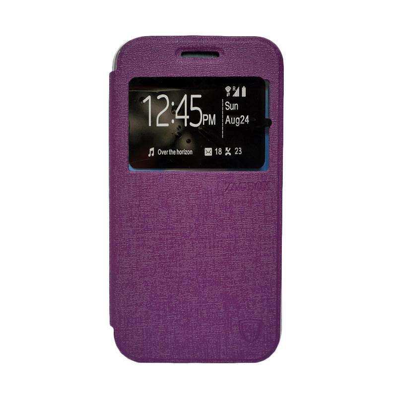 Zagbox Flip Cover Casing for Coolpad Max - Ungu