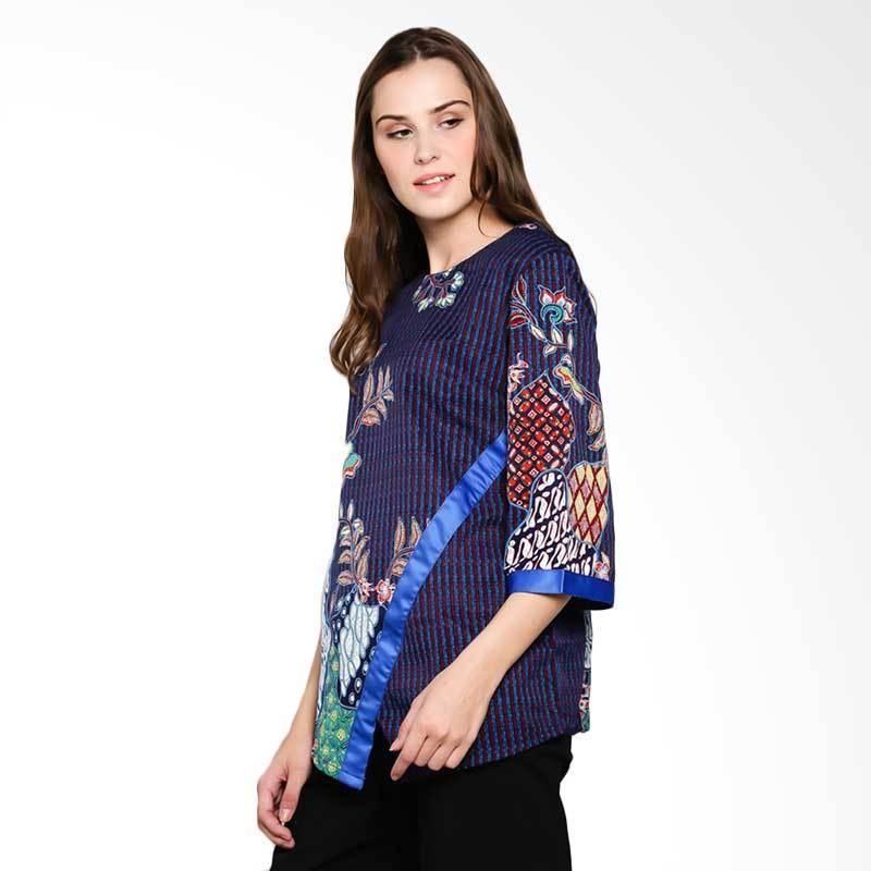 Batik Arjunaweda Women 23186056 Dobby Parang Kembang Blouse Atasan Batik