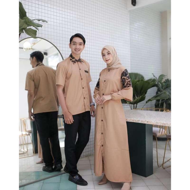 Jual Aisha Couple Gamis Kemeja Mix Batik Baju Couple Pasangan Keluarga Muslim Terbaru 2020 Online Maret 2021 Blibli
