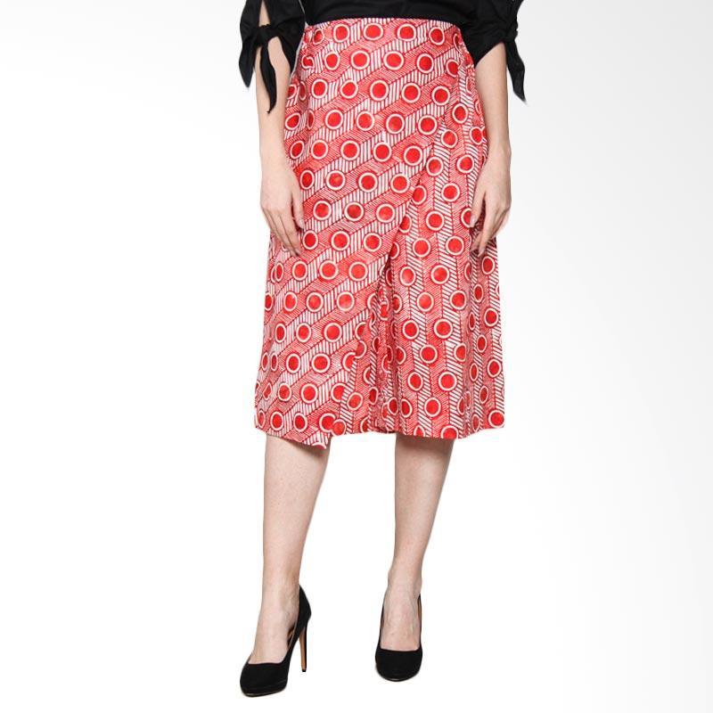 Debra Lunn CL34 Half ACC ABS Zig Zag Dot Stripe DLWCL0125 Celana Batik Wanita - Red