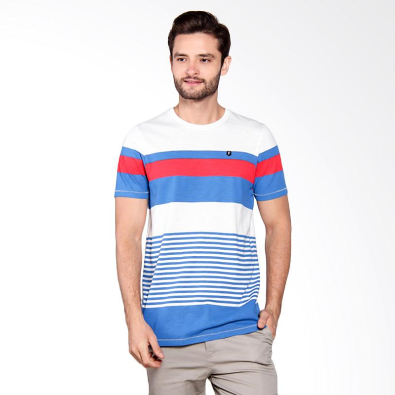 Famo Striped Flag Polo Shirt - Cream [519051712]