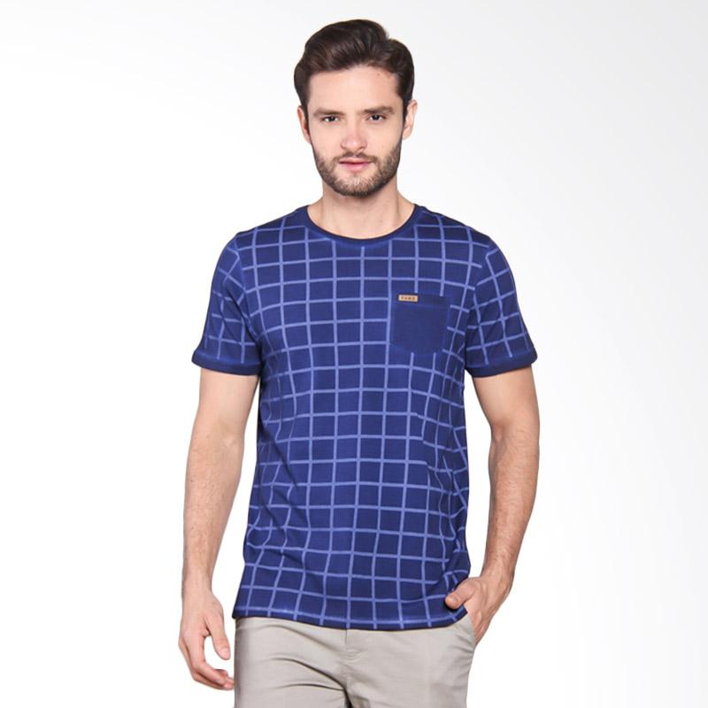 Famo Relaxed Basic Fit Tee - Blue [524051712]