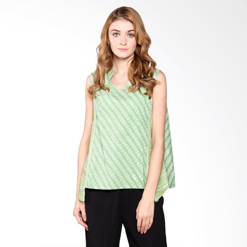 Djoemat Gembira  A17-01-10 Svasti Sleeveless Top in Batik Wanita - Green