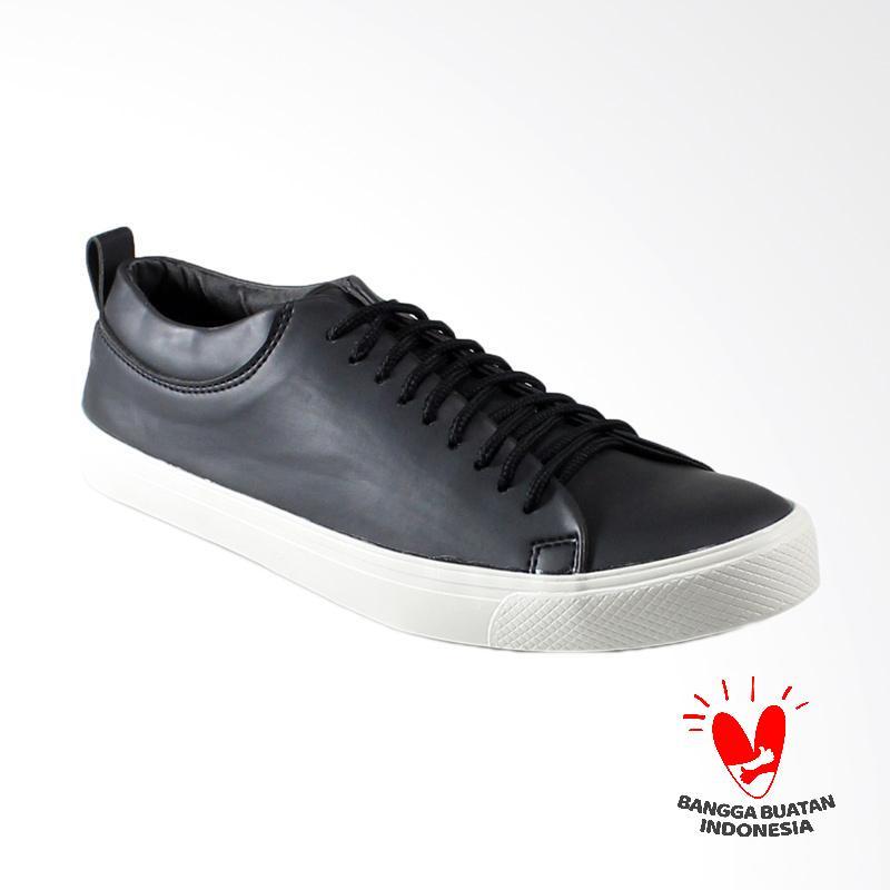 Dane And Dine Bleka Low Sepatu Pria - Black White