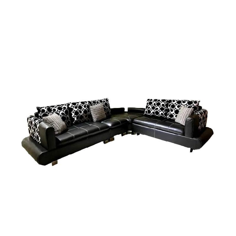 Best Wellington's 898 L Sofa Sudut - Black