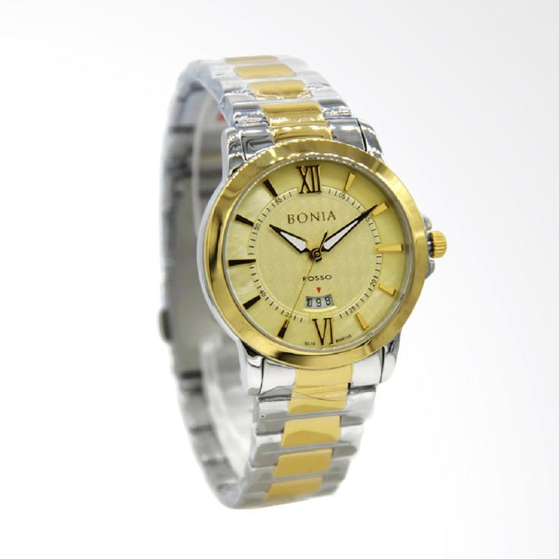 Bonia Rosso – Bonia Rosso BNR109-2123 Stainless Steel Jam Tangan Wanita – Silver Kombinasi Gold Plat Kuning