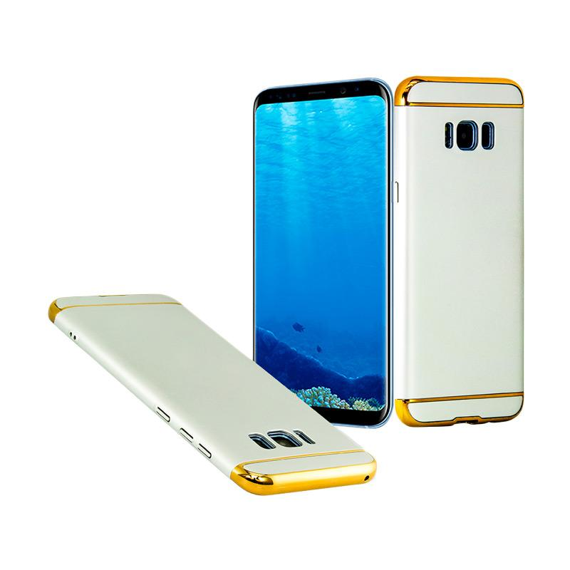 OEM Case 3 in 1 Plated PC Frame Bumper with Frosted Hardcase Casing for Samsung S8 Plus - Silver