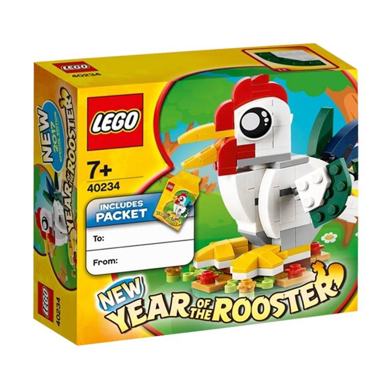 LEGO 40234 Year of the Rooster Mainan Block dan Puzzle