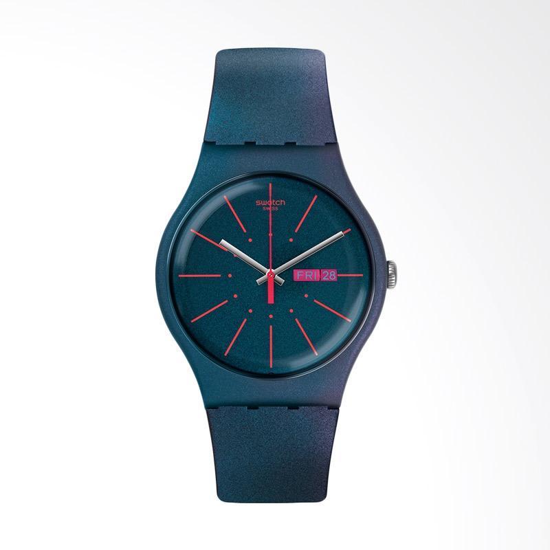 Swatch New Gentleman Jam Tangan Pria - Biru SUON708