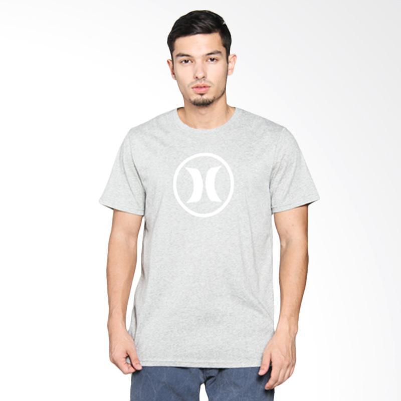 Hurley Block Party Dri-Fit T-Shirt Pria - Dark Heather Grey AMTSBKDF2 06GB
