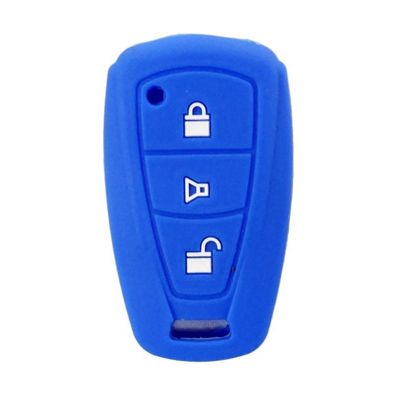 SIV A-608 Cover Key Silikon Sarung Kunci Mobil for Toyota Agya or Daihatsu Ayla - Blue