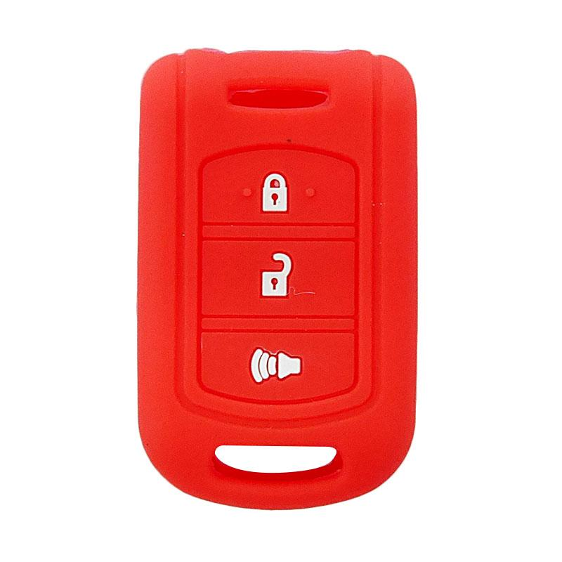 SIV A-609 Cover Key Silikon Sarung Kunci Mobil for Toyota Rush New - Red