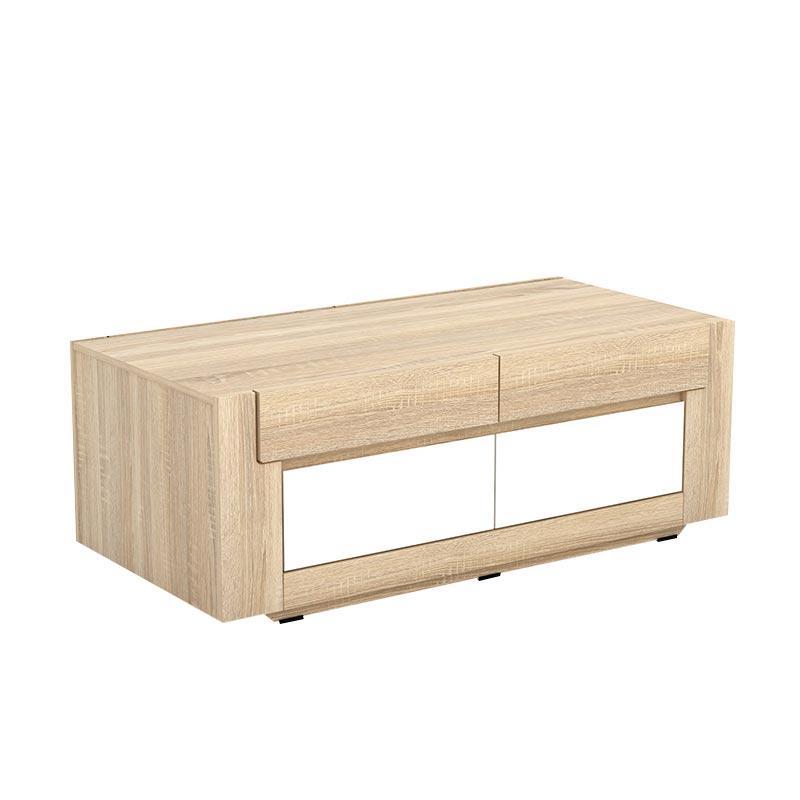 Jual Jysk Coffee Table Elverhoy Meja Sonoma Oak White 124 X 60