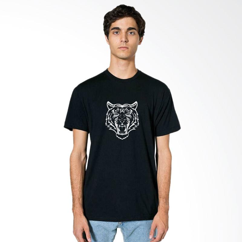 FRAW T-shirt Kaos Pria - Black 37-17