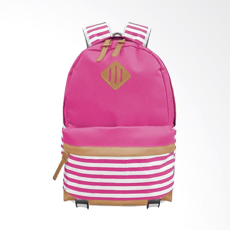 Bag & Stuff Annelo Korea Backpack Tas Wanita - Pink
