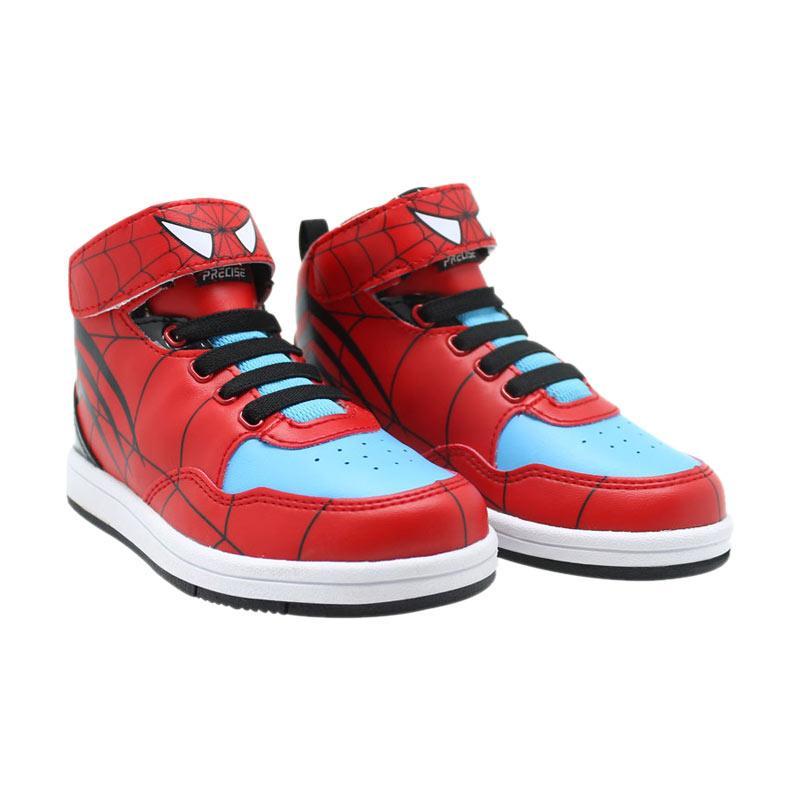Precise Spider Mid Sepatu Anak - Merah Biru