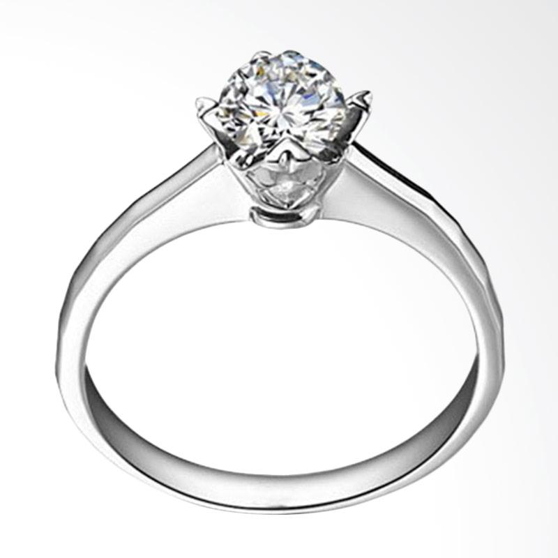 Tiaria Always Perhiasan Cincin Emas dan Zircon White Gold [9K]