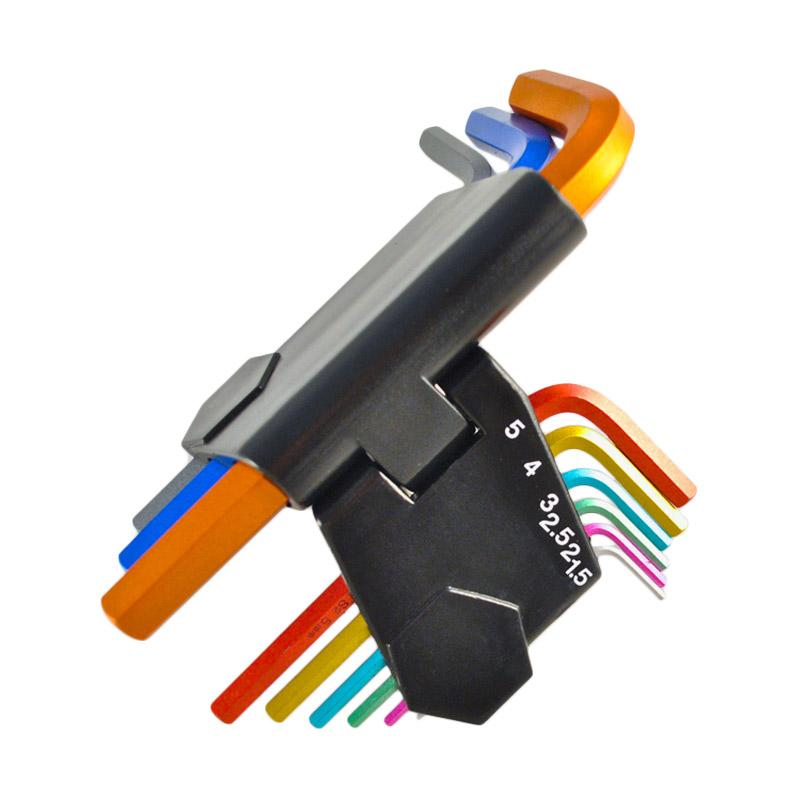 Lindy 9 pièces code couleur hex key set