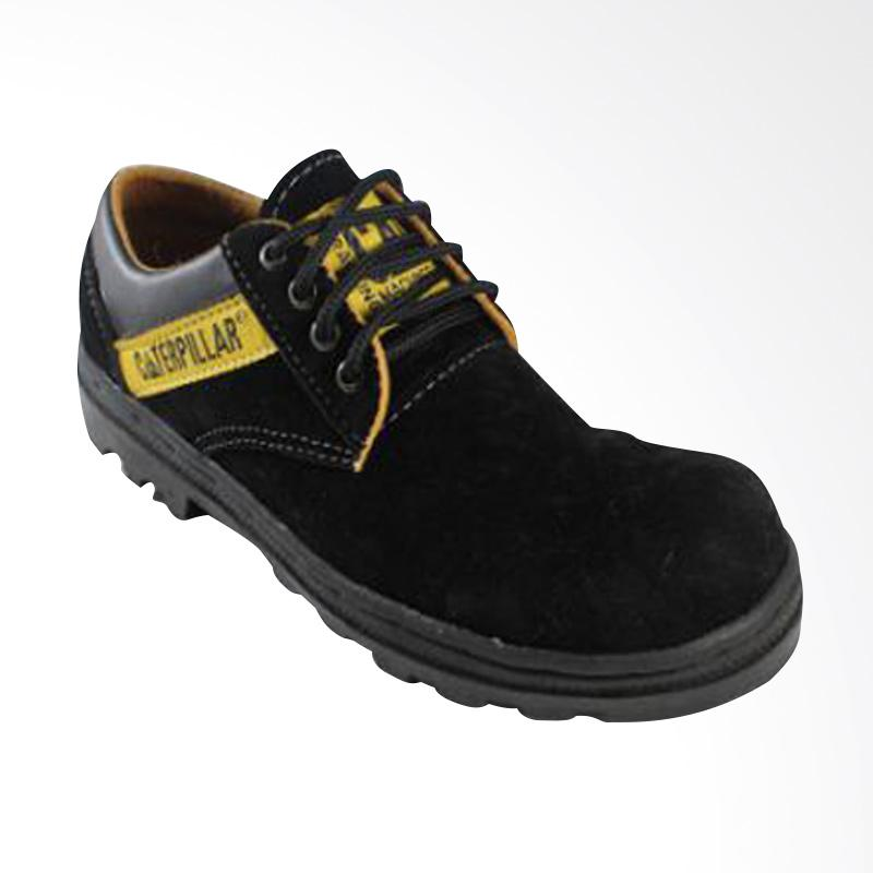 Caterpillar Low Safety Boots Outdoor Suede Leather Sepatu Pria - Black