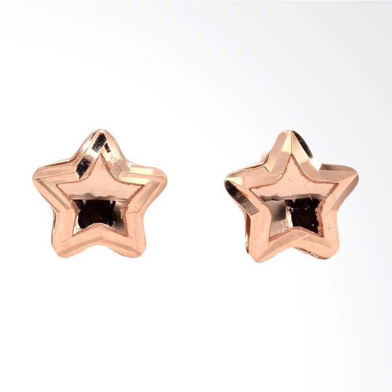 Tiaria Star D2 Earring Anting Emas Perhiasan - Rose Gold