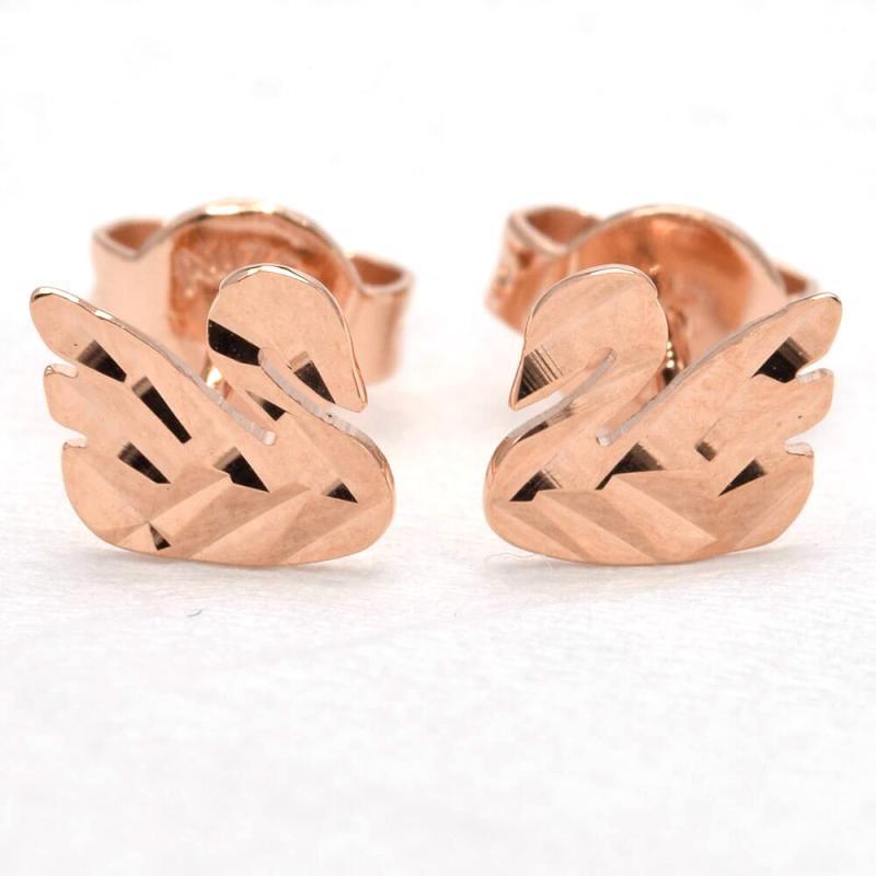 Tiaria Swan Earring Anting Emas Perhiasan - Rose Gold