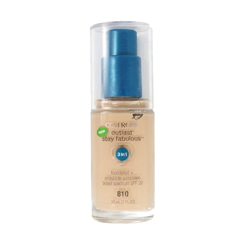 harga Covergirl Outlast Stay Fabulous 3-in-1 Foundation Classic Ivory 810 Blibli.com