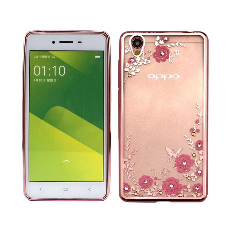OEM Luxury Secret Garden Electroplating Casing for Oppo A37 or Neo 9 - Rose Gold