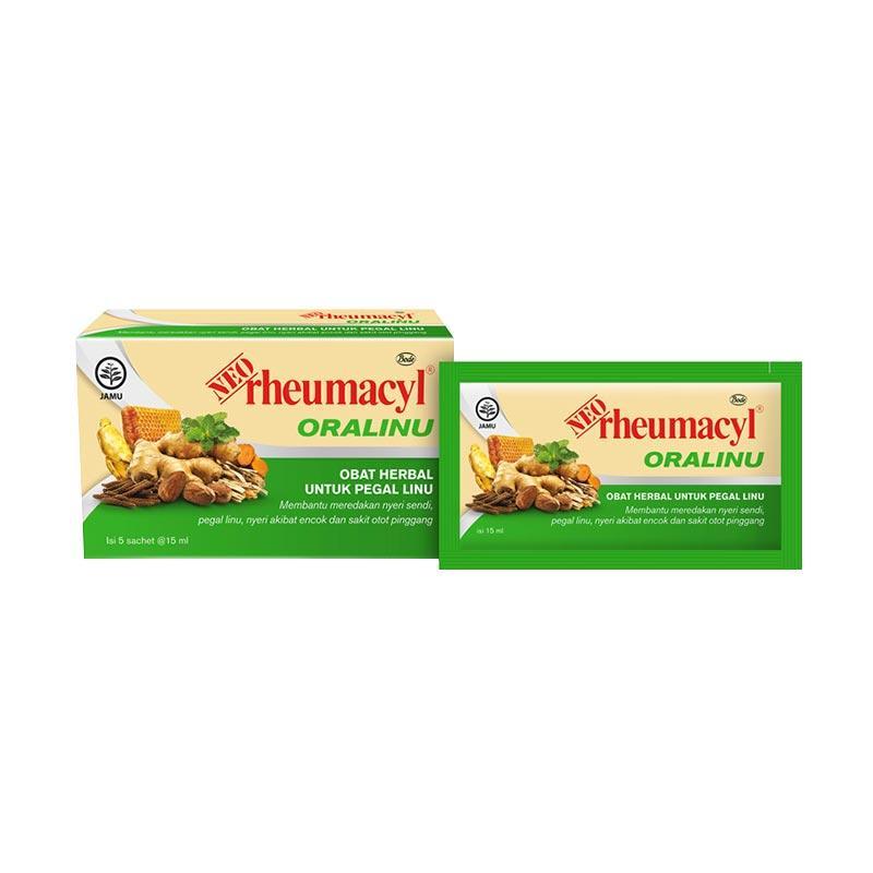 NEO rheumacyl Oralinu Pegal Linu Obat Herbal [15 mL/5 Sachet]