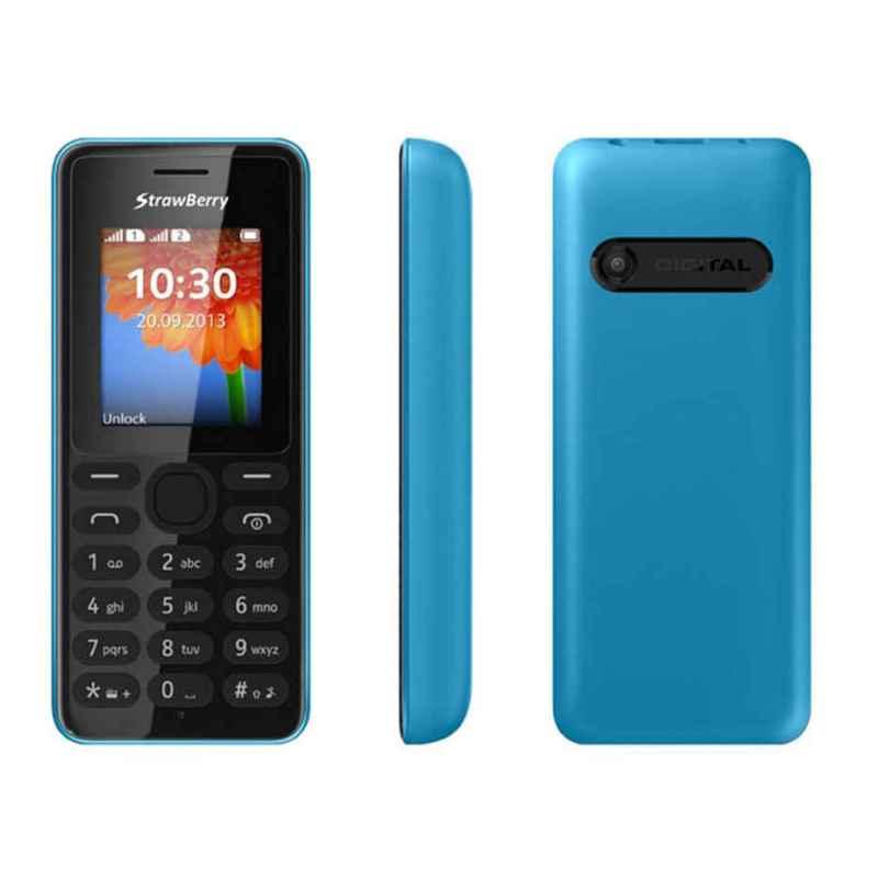 Strawberry ST22 Candybar Handphone - Blue [Dual SIM]