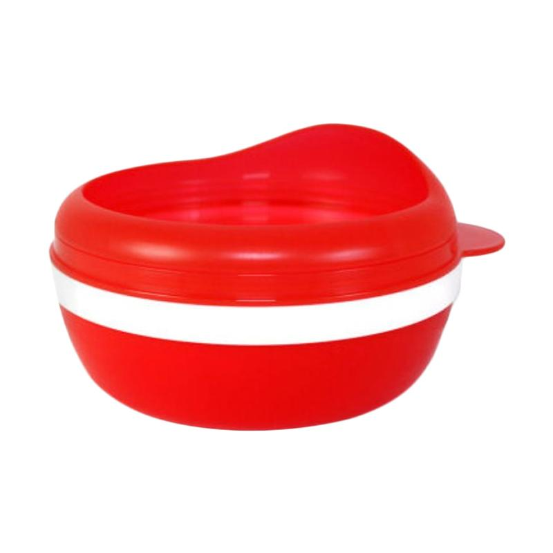 Dearya DY-1107 Non Skid Single Bowl with Arch Lid Mangkuk Bayi - Red