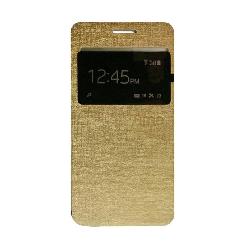 Ume Window Flip Cover Casing for Xiaomi Redmi 4A - Gold