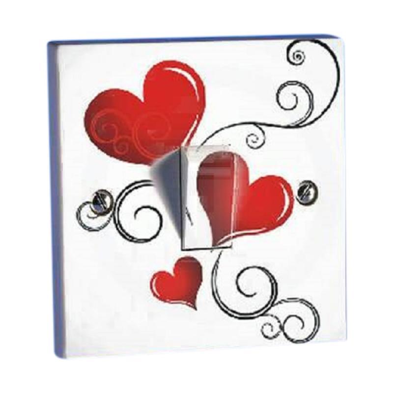 OEM Motif Valentine Love2 Saklar Lampu Sticker