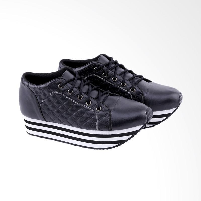 Garucci GDO 7244 Wedges Shoes Wanita - Black