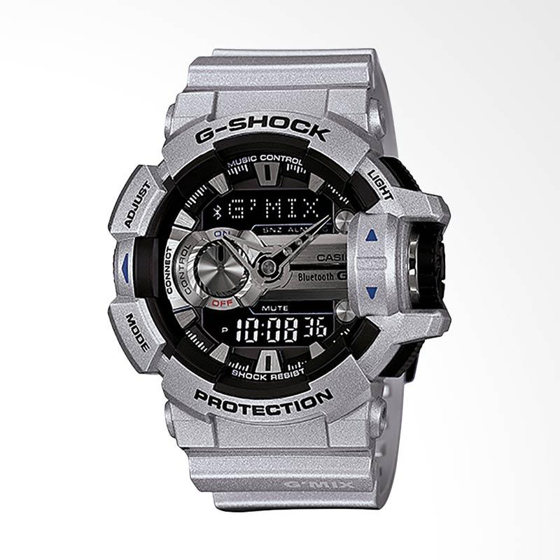 CASIO G-Shock GMIX Bluetooth Smart Jam Tangan Pria - Black Gray GBA-400-8BDR