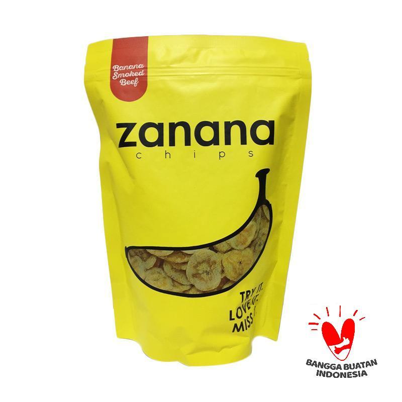 harga Zanana Chips Rasa Smoked Beef Pisang Kripik Blibli.com