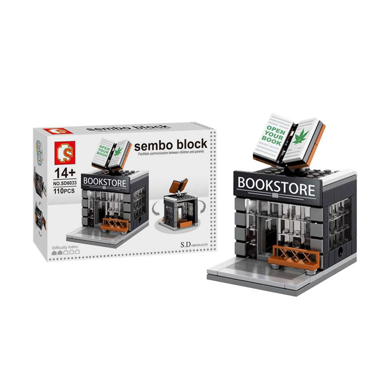 Sembo Block Bookstore Mainan Blok