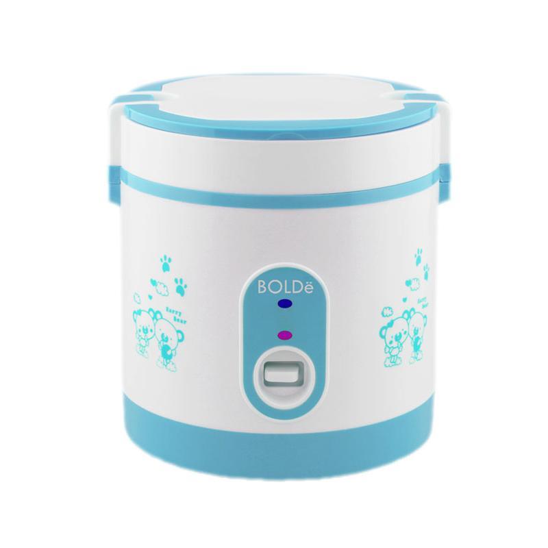 BOLDe Rice Cooker Mini 0.6 Liter SUPER COOK Titanium - Biru - Utama Electronic