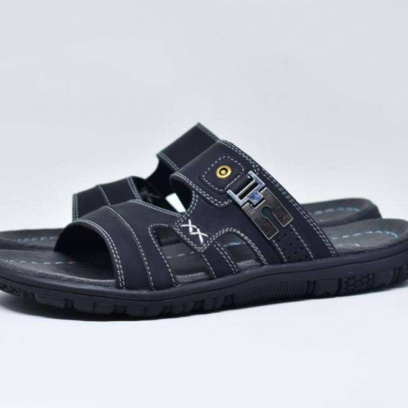 √ Sandal Kulit Davis Sandal Pria Dewasa Model Slop Terbaru September 2021  harga murah - kualitas terjamin | Blibli