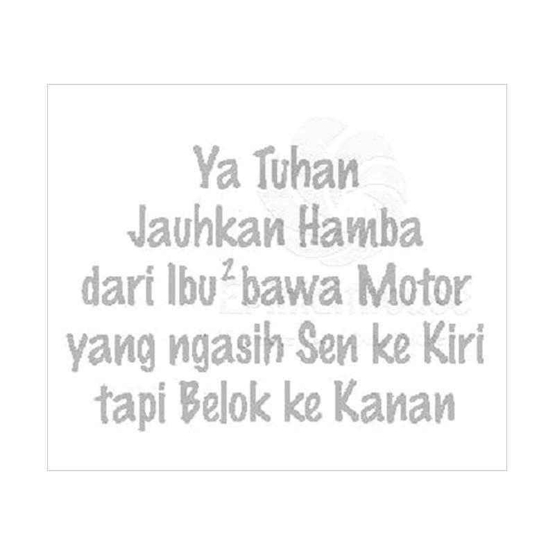 OEM Ya Tuhan Jauhkan Spakbor Batok Stiker Motor or Mobil