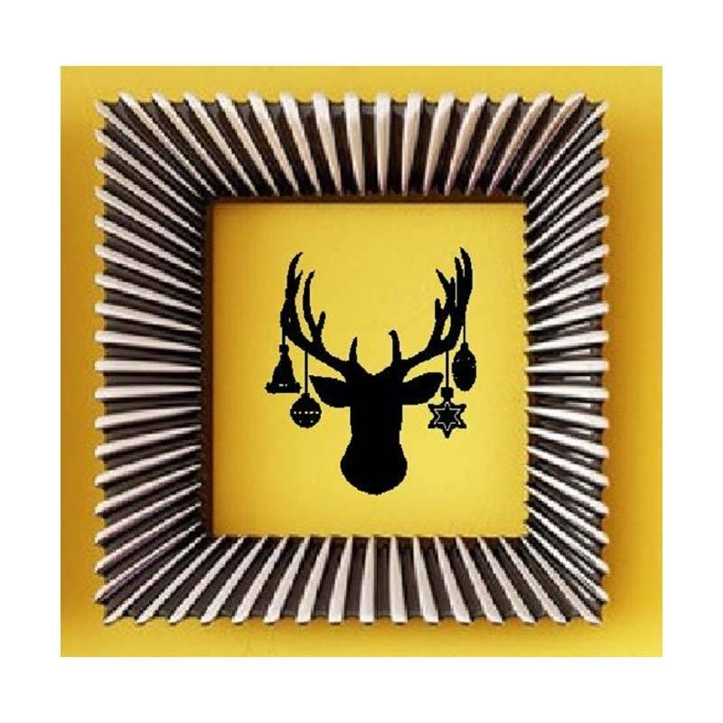 OEM Rusa Santa Claus Cutting Sticker Wall Sticker Dekorasi Dinding