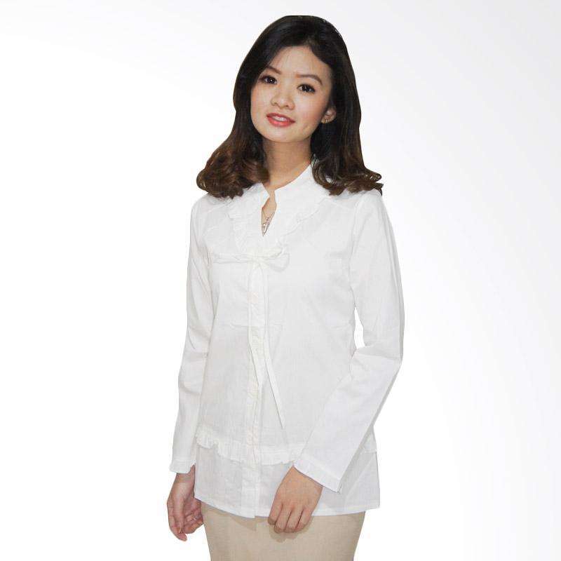harga Adore Ladies Catarina Kemeja Lengan Panjang Wanita - White Blibli.com