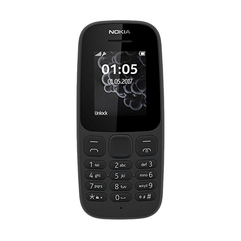 Nokia 105 DS 2017 Handphone - Black