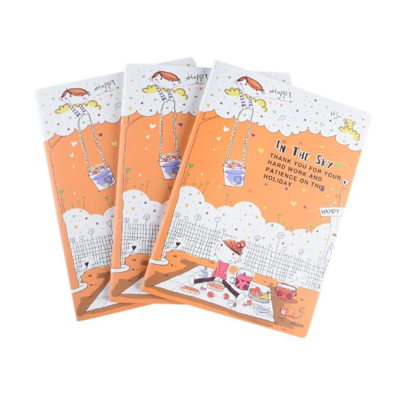 Karisma Set Buku Tulis Jepang A5 In the Sky - Orange [70 gr/ 3 Pcs] - 748296