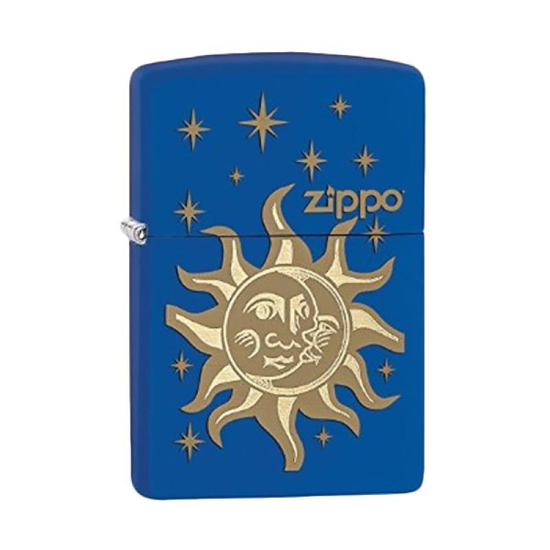 Zippo Sun and Moon Pocket Lighter - Royal Blue Matte