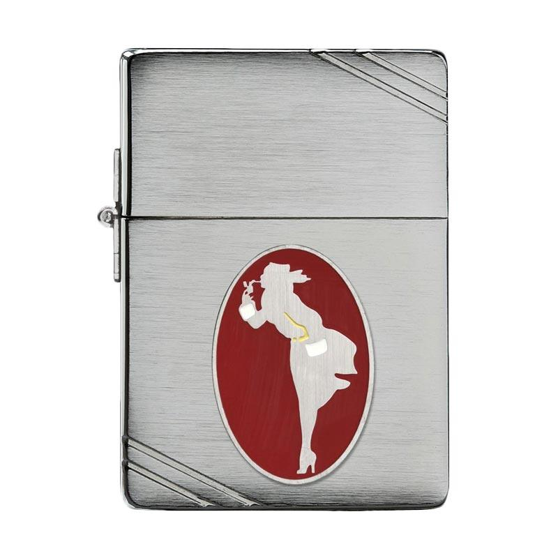 Zippo 1935 Windy Collectible of the Year Brushed Chrome Pocket Lighter