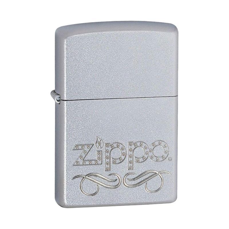 Zippo Scroll Pocket Lighter - Satin Chrome