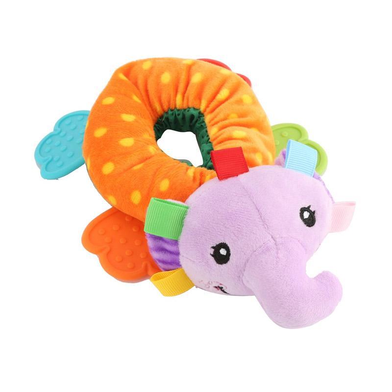 Chloebaby Shop S280 Elephant Donut Rattle Mainan Edukasi Bayi