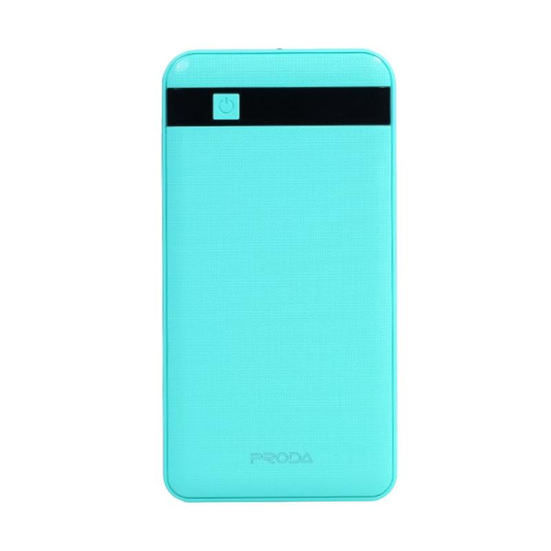 Remax Proda PPP-9 Original Powerbank with Built-in Flashlight and LCD Display - Blue [12000 mAh/ Dual USB Output]